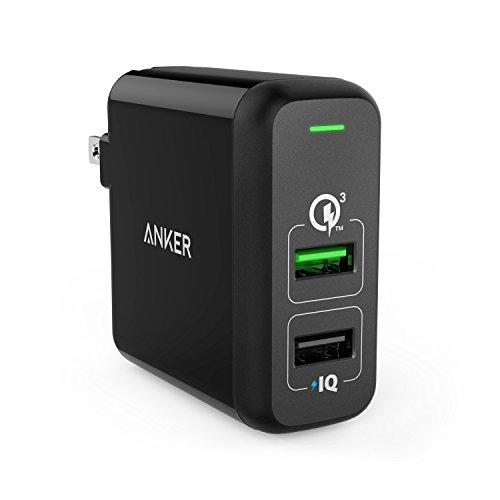 Anker PowerPort 2 Quick Charge 3.0 (31.5W 2ポート USB急速充電器 QC3.0対応 PowerIQ搭載) iPhone、Android各種対応
