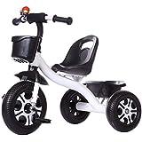 子供の三輪車 子供の三輪車自転車1-3-6歳の赤ちゃん自転車男の子女の子軽い幼児ベビーカー赤ちゃん 三輪車 おりたたみ 持ち運び (色 : E)