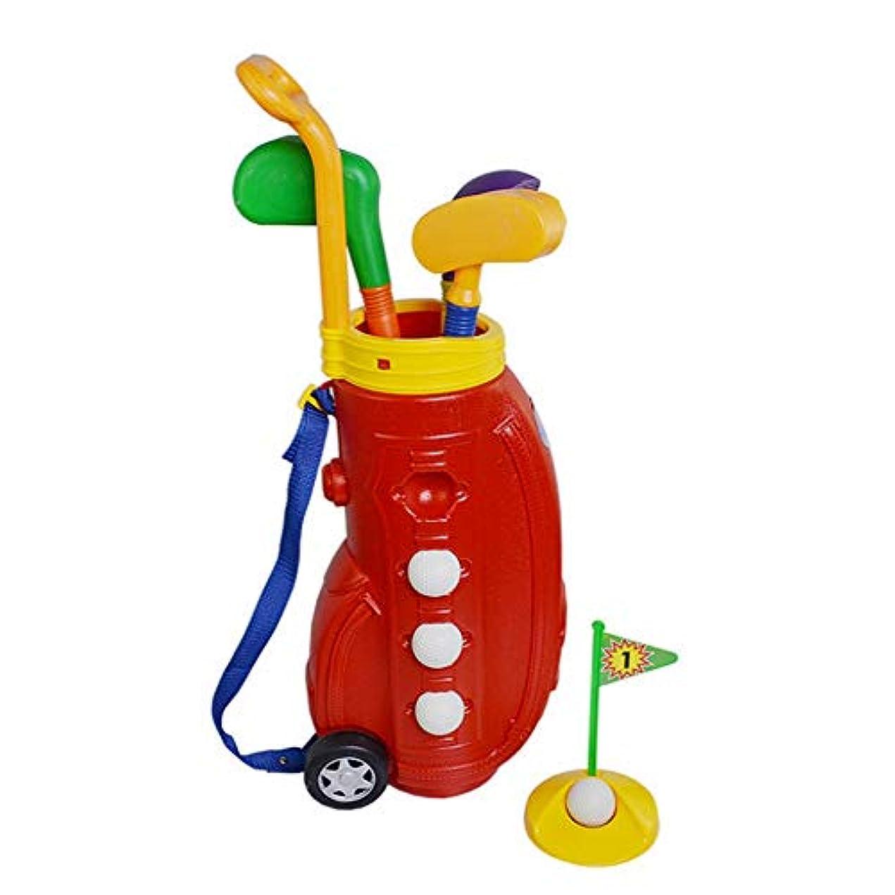 糞一般化する列挙するゴルフ子供用おもちゃセット キッズゴルフクラブセット、ゴルフおもちゃでゴルフカートの早期教育アウトドアエクササイズ玩具 ゲーム レジャー ファミリースポーツ (Color : Red, Size : Free size)