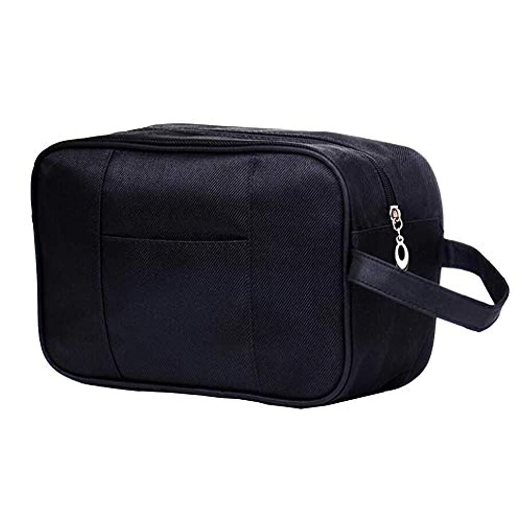 パトワ郵便局魅了するHOYOFO トラベルポーチ トイレタリーバッグ バスルームポーチ メンズ 洗面用具 おしゃれ 旅行 出張用 機能的 防水 黒サージ