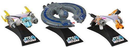 Hasbro スターウォーズ チタンシリーズ ポッドレース アナキン、セブルバのポッドとバトルシップ豪華3体セット ディズプレイスタンド付き/Star Wars 2012 Exclusive Tita