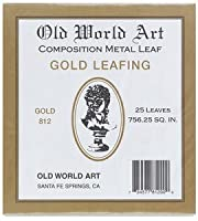 GOLD LEAF 25SHEET/BOOK by OLD WORLD ARTS