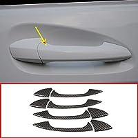 4 x Carbon Fiber ABS Chrome Car Door Handle Trim For Mercedes Benz GLK GL ML C Class W204 X204 Car Accessories