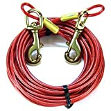 Coastal Pet Titan TieOut Cable for Medium Dog Tangle Free Weather Resistant 20ft