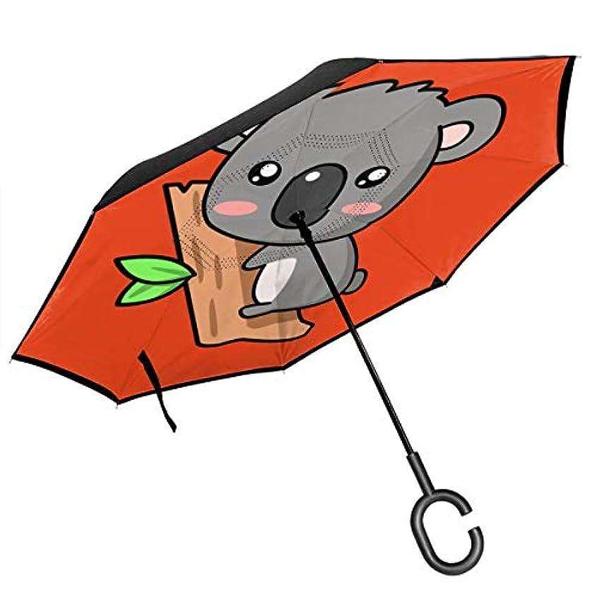 免除する遠足ピービッシュコアラ 逆さ傘 逆折り式傘 車用傘 耐風 撥水 遮光遮熱 大きい 手離れC型手元 梅雨 紫外線対策 晴雨兼用 ビジネス用 車用 UVカット