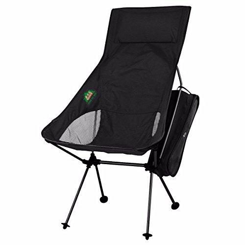 KING DO WAY キャンプ 椅子 アウトドアチェア 多色(5色) 登山 野外フェス 運動会 釣り 耐過重100kg 軽量 ブラック