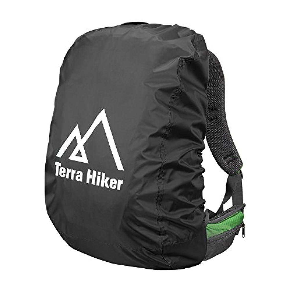 促すポーター残基Terra Hike レインカバー 雨よけ リュックカバー 300Dオクスフォード生地 ザックカバー 防水性 軽量 通勤 通学 登山 アウトドア活動 対応サイズ15-60L