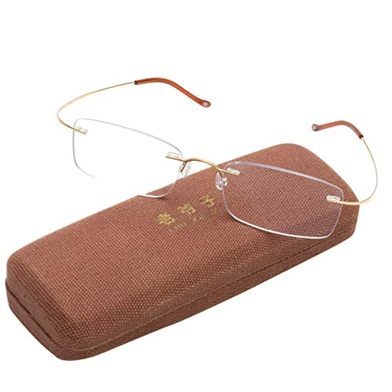 誤解を招く放置ストリップVEGOOS 老眼鏡 ブルーライトカット おしゃれ レディース メンズ スマホ老眼鏡 軽量 枠なし リーディンググラス 超弾性 アイウェア 敬老の日 プレゼント(1.5 x)