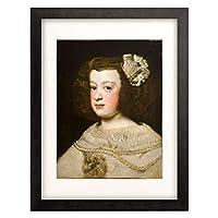 ディエゴ・ベラスケス Diego Rodriguez de Silva y Velazquez 「Maria Teresa, Infanta of Spain, ca. 1636-1670.」 額装アート作品
