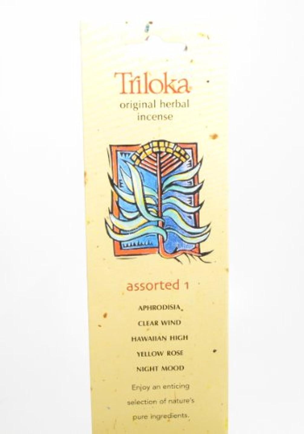 四分円紀元前枯渇Triloka – 元Herbal Incense Assorted Fragrances 1 – 10スティック( S )