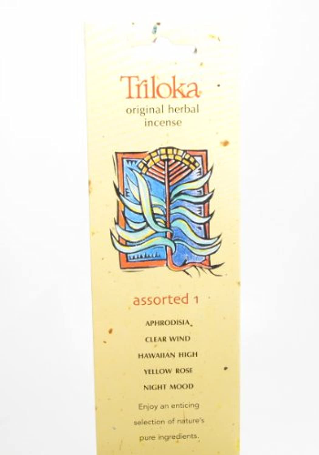 Triloka – 元Herbal Incense Assorted Fragrances 1 – 10スティック( S )