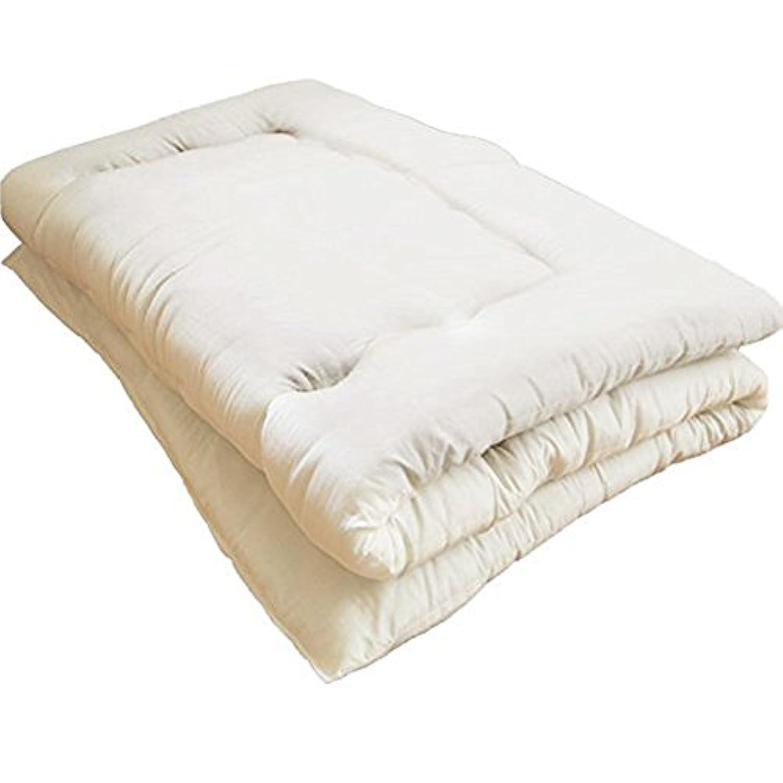 EiYU 敷き布団 増量 ほこりの出にくい布団 洗える布団 アイボリー シングル