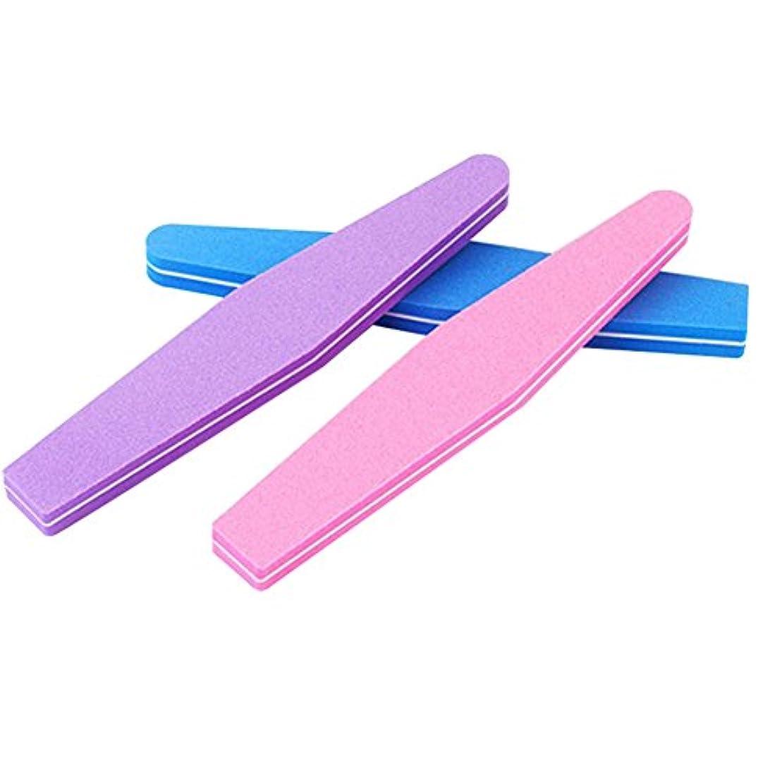 Poonikuuネイルやすり ネイルファイル 爪ヤスリ爪磨き ケアツール ネイルツール 小型便利 ランダムカラー 1本セット