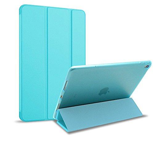 MS factory iPad Pro 9.7 ケース カバー アイパッド プロ ipadpro 2016 9.7インチ スマートカバー 耐衝撃 ソフト フレーム オートスリープ 全9色 スカイ ブルー 水色 IPDP9-S-TPU-SKY