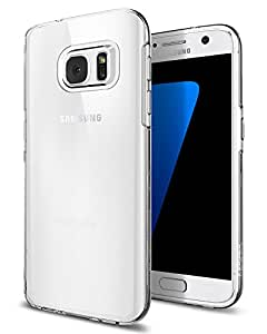 【Spigen】 スマホケース Galaxy S7 ケース 対応 TPU 全面クリア 超薄型 超軽量 リキッド・クリスタル 555CS20006 (クリスタル)