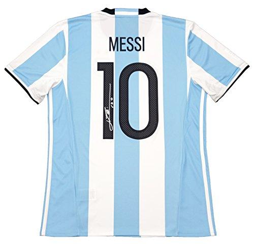 THE DUGOUT(ザ・ダグアウト) リオネル・メッシ 直筆サイン入り アルゼンチン代表 16/17 ホームユニフォーム TDMA16171
