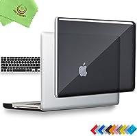ueswill 2in1光沢クリスタルクリアSee Throughハードシェルケースとシリコンキーボードカバーfor MacBook Pro +マイクロファイバークリーニングクロス MacBook Pro 13'' (Non-Retina) UES03C13P2-01