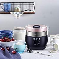 インテリジェント自動ギリシャヨーグルトマシン、2 + 4セラミックカップ、1Lホーム多機能小型発酵米ワインチーズマシン、ブルー
