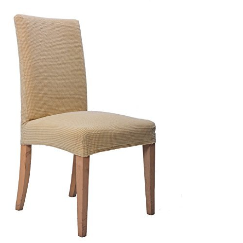 ILIJUN 1枚 4枚 セット 椅子カバー チェアカバー 伸縮素材 選べる 11色 (4枚, A)