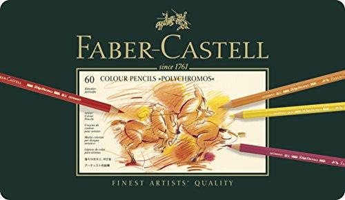 ファーバーカステル ポリクロモス色鉛筆 60色 缶入