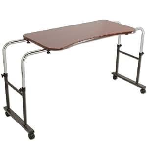 タンスのゲン 介護用ベッドテーブル キャスター付き 伸縮式 高さ調節可能(幅:108~144cm /高さ:53~67cm) Licht リヒト 65090050BR