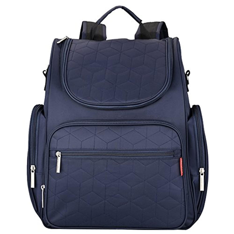 ゴシレ Gosear 大容量 多機能 全面防水 マザーズバッグ おむつバッグ マタニティ バッグ おむつ換えシート バックパック ベビーカー バッグ 青色