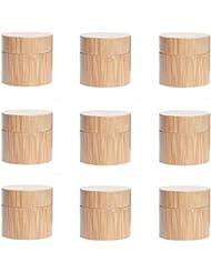 Yiteng スポイト遮光瓶 アロマオイル 精油 香水やアロマの保存 遮光瓶 小分け用 保存 詰替え 竹製 9本セット (5g)