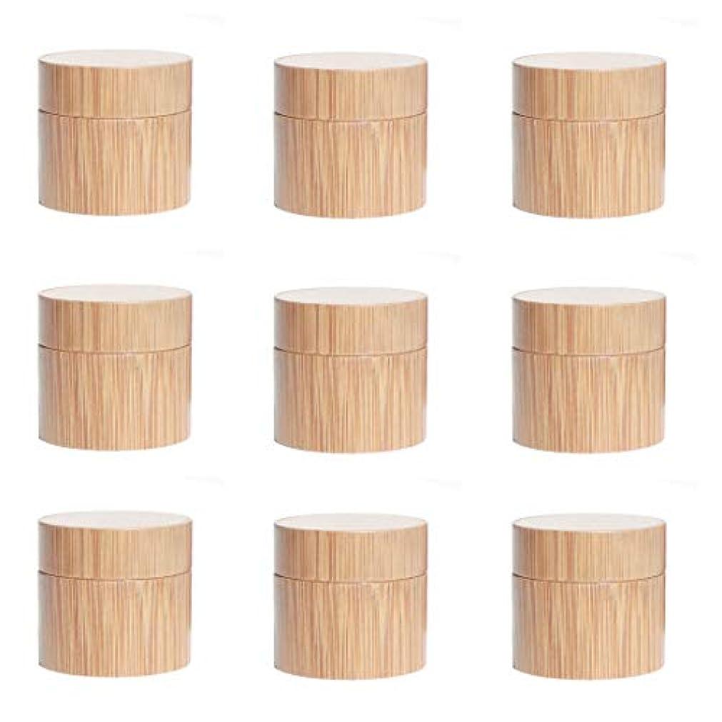 アレイリマーク瞑想的Yiteng スポイト遮光瓶 アロマオイル 精油 香水やアロマの保存 遮光瓶 小分け用 保存 詰替え 竹製 9本セット (15g)