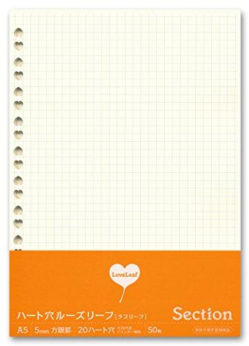 [해외]라부리후 하트 구멍 느슨한 잎 50 장/Lovely Heart Hole loose-leaf 50 sheets