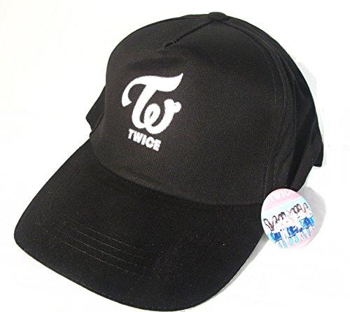 TWICE トワイス ロゴ キャップ ブラック バッジセット