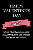 happy valentine's day  Edward Quote: composition notebook :valentine's day gift for an happy valentine day gratitude your lover