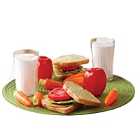 Cp Toys 20 Pc. Pretend Play Healthy Lunch Plastic Food Set For Two [並行輸入品]