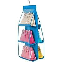 DRASAWEE(JP)バッグ収納 吊り下げ 両面3段式 かばん 収納ラック ハンガー 鞄収納 クローゼット用 8#