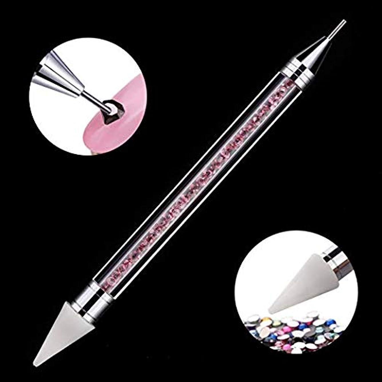 帝国主義肯定的ナットMakartt ネイルペン 掘削 ネイル点在ペン マニキュアツール ペン ラインストーン クリスタル ネイルアート (02)