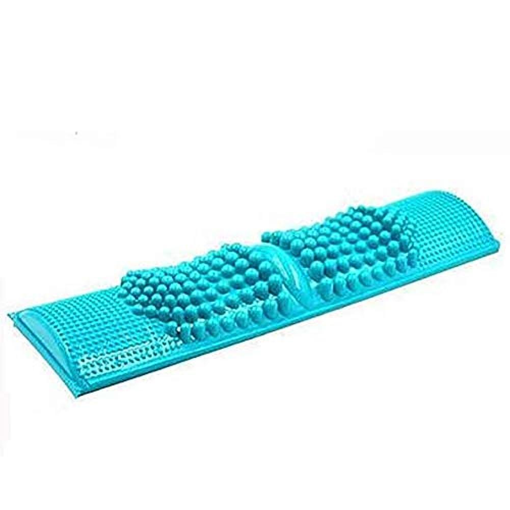 風刺オートメーションシンプルな簡単に健康維持 大サイズ 足つぼマッサージ 足 踏み 足裏 刺激 血行促進 ブルー