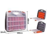 ツールボックス、プラスチックボックス、ツールマルチコンパートメントツールボックス収納オーガナイザトレイ、透明パーツ収納ボックス (サイズ さいず : 380 * 300 * 60mm)