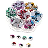 Baoblaze 175pcs 12mm Non-Adhesive Wiggly Google Googly Eyes for Scrapbooking Crafts