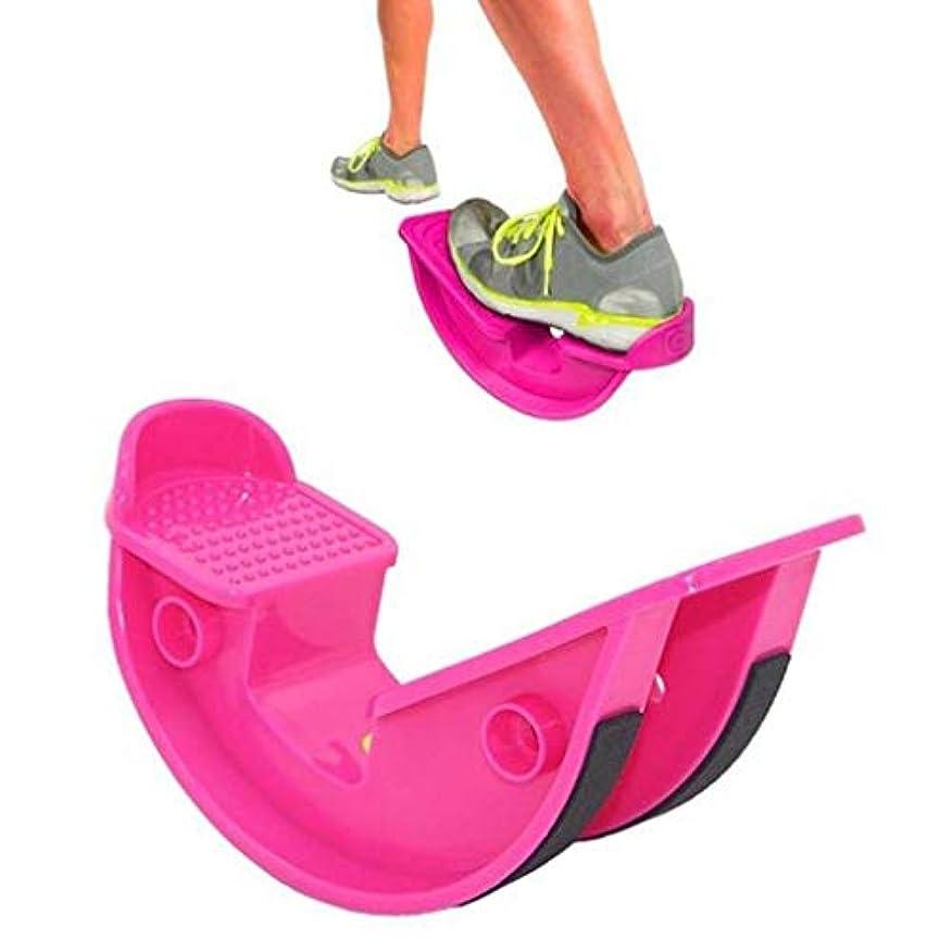 震え集中的なヒューマニスティックプロ ストレッチ プラス ストレッチングボード フットロッカー 傾斜板 バランスボード アキレス エクササイズ 足つぼ 体幹 運動 (ピンク)