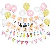 Easy Joy  100日お祝い飾り付けセット ピンク ホームパーティー 受付飾り 装飾 写真背景 ウオールデコレーション