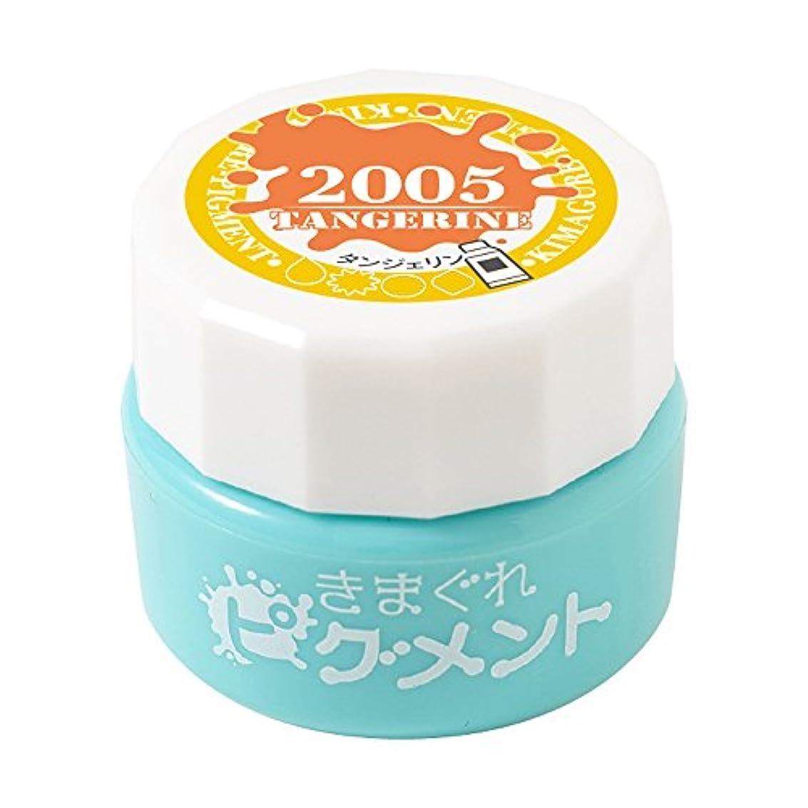 バスタブ薄い消化器Bettygel きまぐれピグメント タンジェリン QYJ-2005 4g UV/LED対応