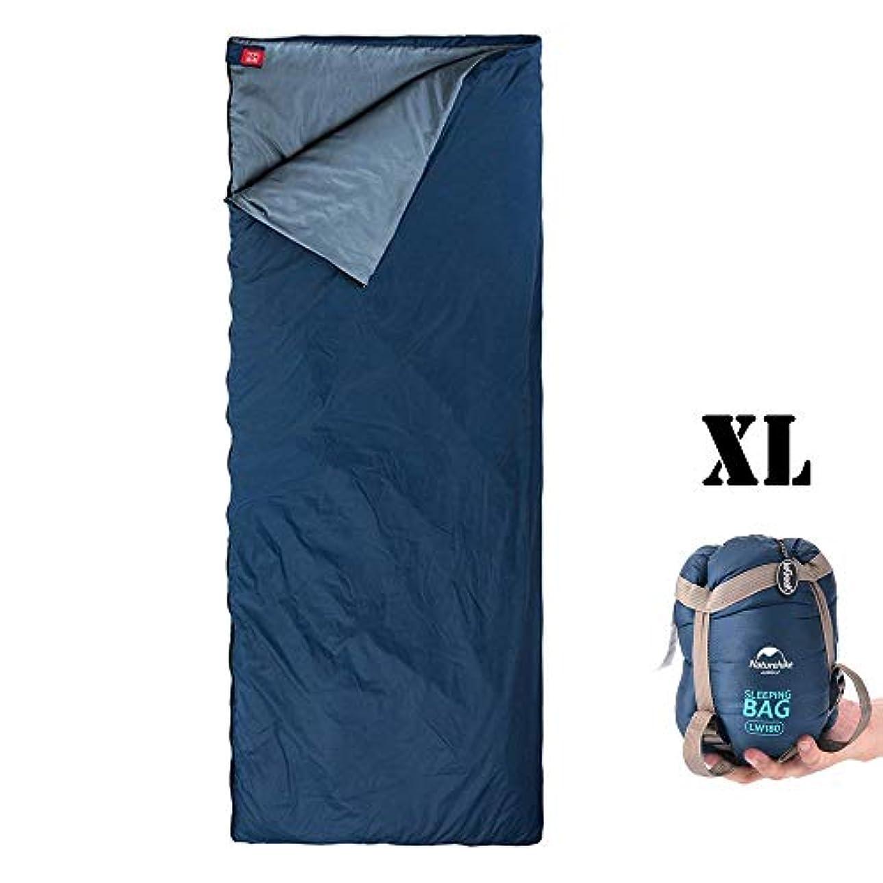 賭け殺す素子ieGeek Sleeping Bag, Lightweight Envelope Sleeping Bags with Compression Sack Portable Waterproof for 3 Season Travel Camping Hiking Backpacking Outdoor Activities,Ultra-Large for Kid/Adults (Blue) [並行輸入品]