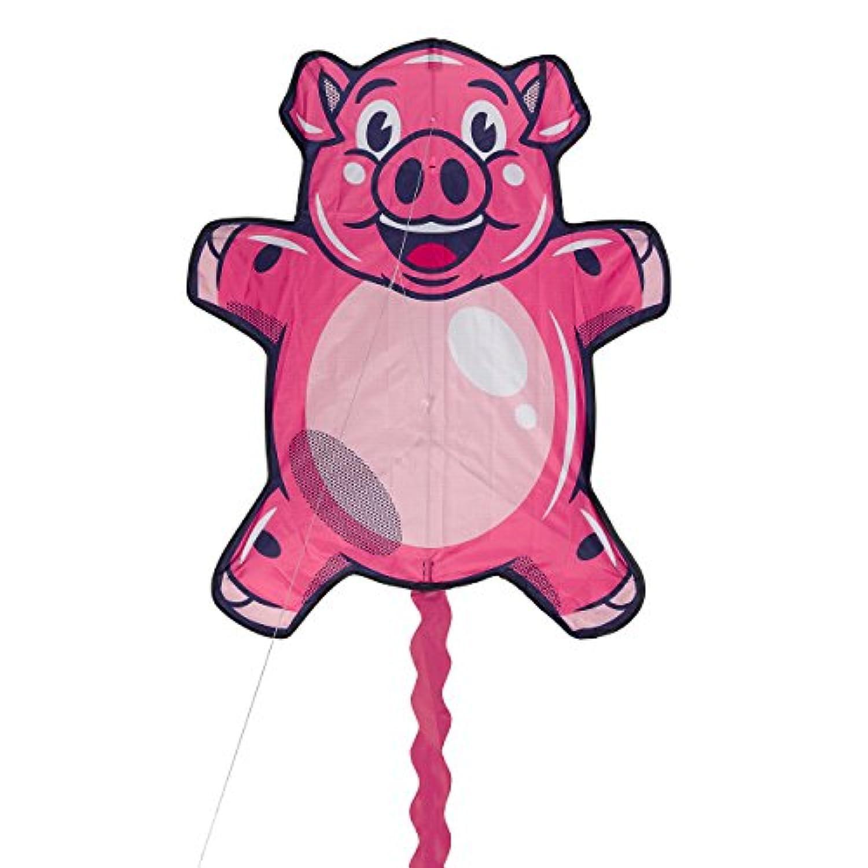 Ridleyの豚は飛ぶことができます。 子供用 ノベルティピッグカイト キャリーバッグ付き