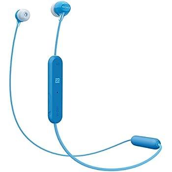 ソニー SONY ワイヤレスイヤホン WI-C300 : Bluetooth対応 最大8時間連続再生 マイク付き 2018年モデル ブルー WI-C300 L