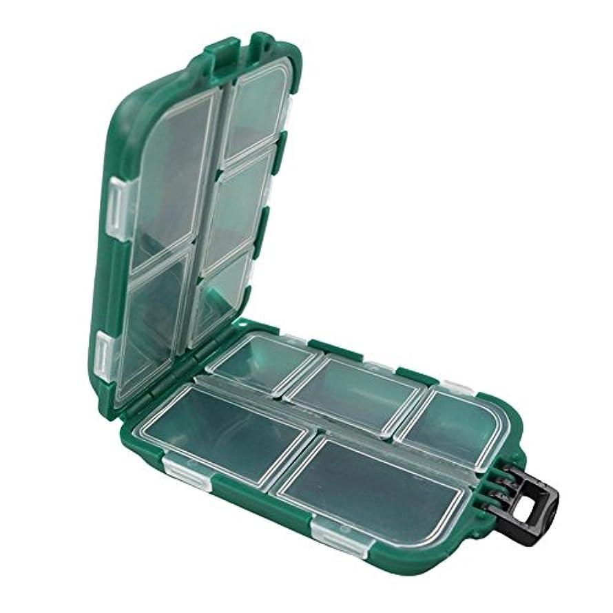 朝むしゃむしゃ熟すk-outdoor フックケース 釣り小物入れ フック収納 防水 耐衝撃 コンパクト タックルボックス 9~12コンパートメント