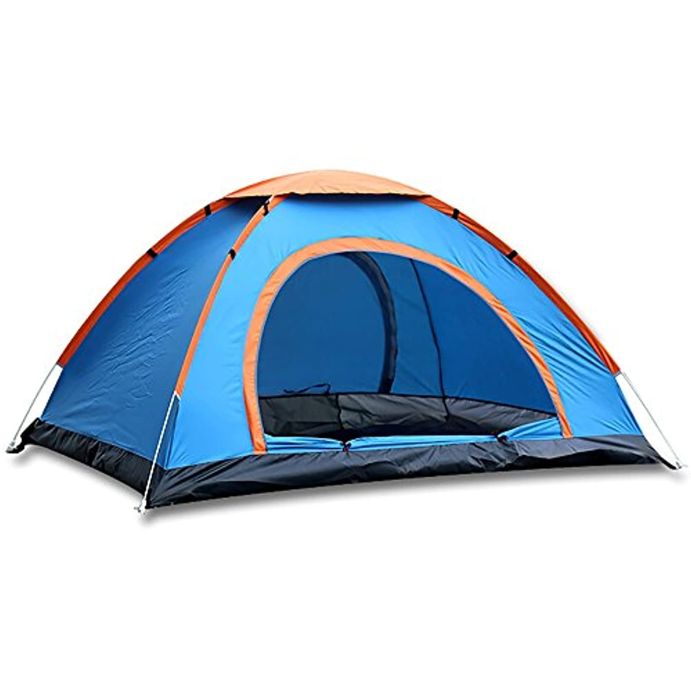 下向き感謝するシルエットMengshen キャンプテント ドームテント 設営簡単 撥水加工 高通気性 紫外線カット収納ケース付 MS-A34 Blue