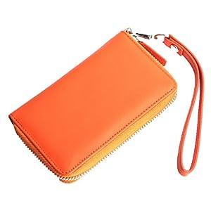 【AWESOME/オーサム】 プルームテック専用ケース カード入れ付き オレンジ PLM-01