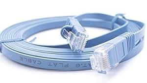 ACL 1フィートrj45Ultra Premium 32AWG cat6( 550MHz )フラットイーサネットケーブル、ブルー 10 Feet ブルー ACL-205588