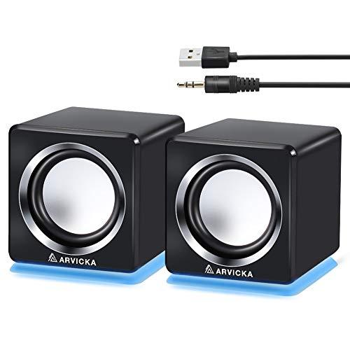 ARVICKA pc スピーカー 6w高音質 usb スピー...