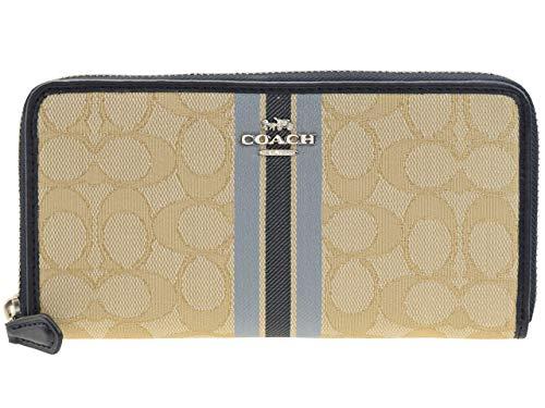 1a5e8a4963ad [コーチ] COACH 財布(長財布) F39139 ライトカーキマルチ シグネチャー ジャガード ストライプ