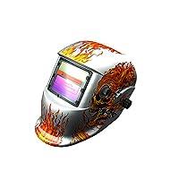 自動遮光 溶接面 溶接マスク 溶接ヘルメット TIG、MAG、MIG、アーク対応/ 遮光速度1/25000秒 ソーラー電池採用 8番